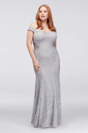 shoulder  size gown  beaded sides david