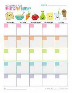 free school lunch menu templates - free printable weekday lunch plan sheet great for