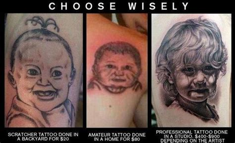 Bad Tattoo Meme - choose your artist wisely as sailor jerry says quot cheap tattoos aren t good and good tattoos