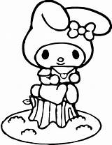 Coloring Pages Melody Sanrio Colouring Kitty Hello Sheets Keroppi Characters Say Disney Coloringhome Template Names Christmas Easy Pdf Sketch Visitar sketch template