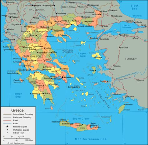 map  greece planetologcom