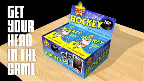 Make Your Own Hockey Card (starr Cards Retro 75) Youtube