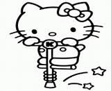 Coloring Pogo Stick Kitty Hello Printable sketch template