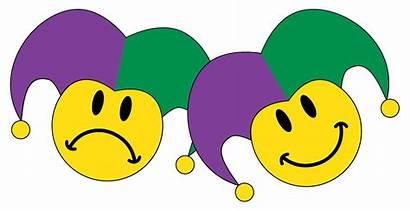 Sad Happy Clip Smiley Gras Mardi Faces