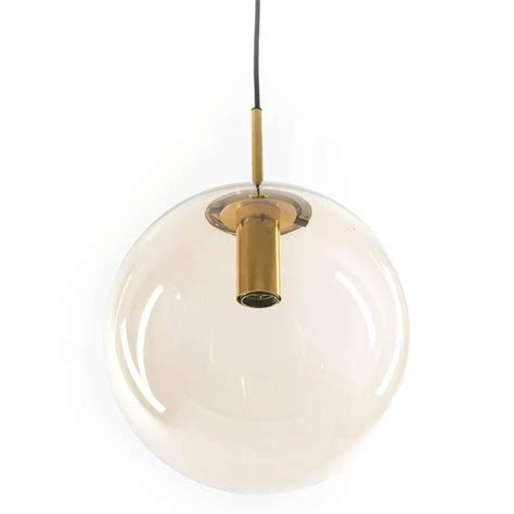 limburg pendant lights brass and brown glass globes