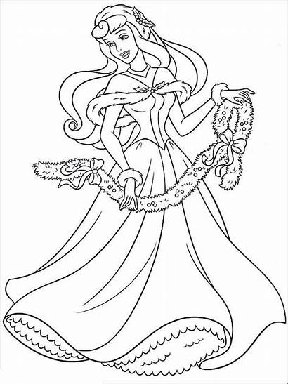 Coloring Princess Disney Aurora Pages Printable Template