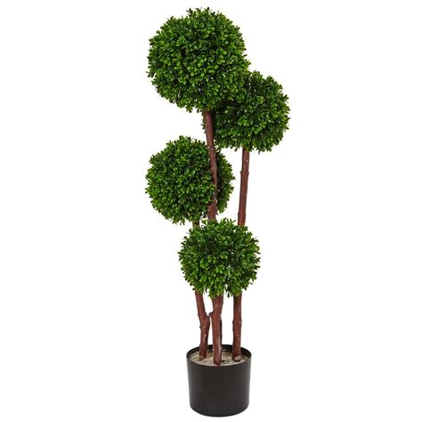 topiary trees indoor nearly natural indoor outdoor boxwood topiary artificial tree uv resistant 5486 the home depot