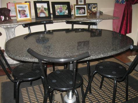 granite dining table brings cool styles designoursign