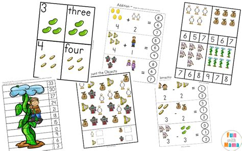 free and the beanstalk activities with 231 | Jack and the Beanstalk d