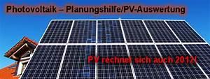 Photovoltaik Leistung Berechnen : photovoltaik planungshilfe pv auswertung m ~ Themetempest.com Abrechnung
