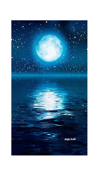Painting Moon Water Lake Galaxy Step Fairy