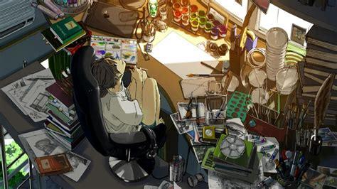 Anime Room Wallpaper - anime room painting wallpaper anime wallpaper