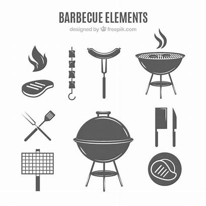 Barbecue Grill Elements Vector Grey Vectors Logos