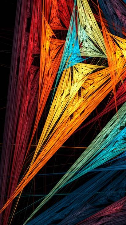 Colorful Iphone Wallpapers Abstract Sharp Shapes Para