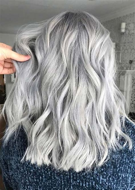 Silver Hair Trend 51 Cool Grey Hair Colors And Tips For