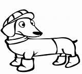Dachshund Coloring Dog Colorare Jamniki Daschund Evcil Hayvanlar Boyama Kolorowanki Bestcoloringpagesforkids Disegni Coloringpageforkids Sayfalari Pets Clipart Template Categoria Pobrania Pobierz sketch template
