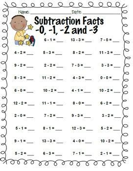 subtraction facts practice
