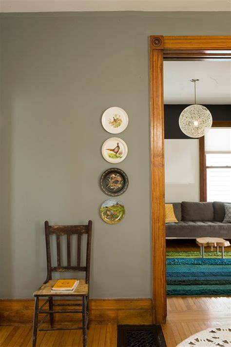 cityscape by sherwin williams paint color with oak trim