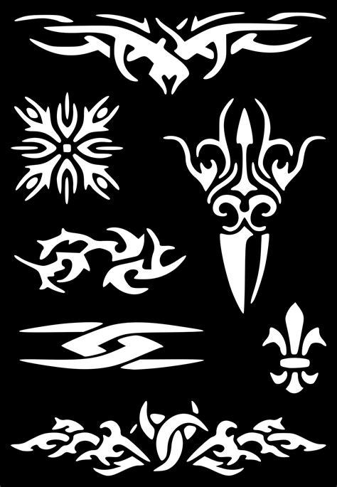 Henna Temporary Tattoo Body Art Glitter Stencil #