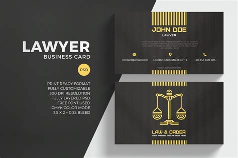 law firm business cards youll love  print ready