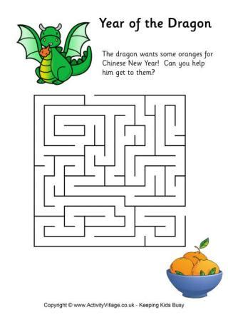 year dragon word search
