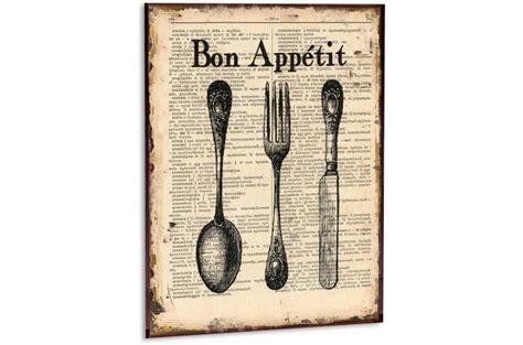 cuisine en metal cadre cuisine en métal bon appetit tableau gourmandise