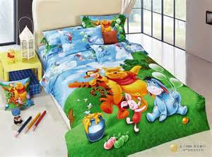 green winnie the pooh and tiger queen bedding sets boys and girls bedding sets kids bedding sets