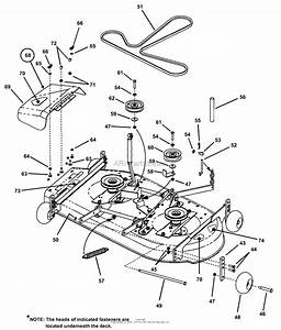 Snapper Hzs15422kve 42 U0026quot  15 Hp Ztr Yard Cruiser Series 2 Parts Diagram For Mower Deck Assembly