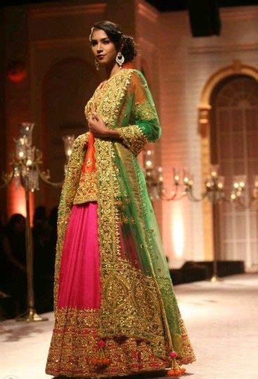 gota dresses pakistani mehndi multi colored gota kinari
