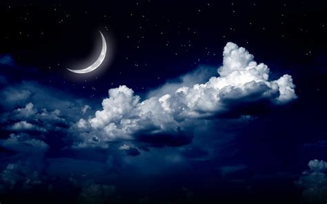 nubes noche naturaleza paisaje estrellas