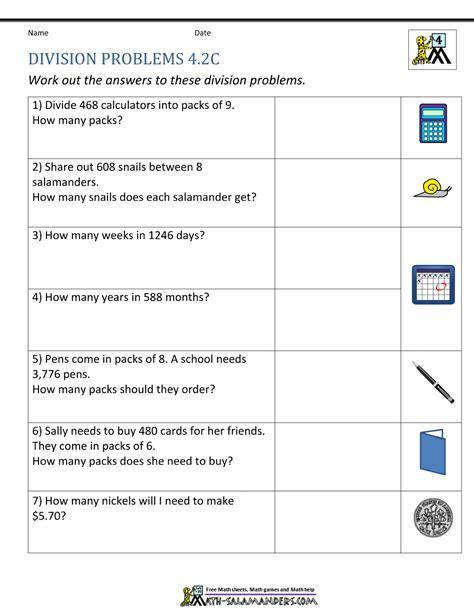 division worksheet problem solving kidz activities