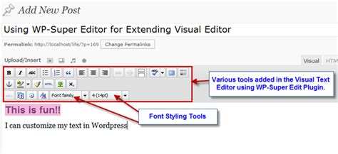 Customize Wordpress Post Formating Using Wp-super Edit Plugin