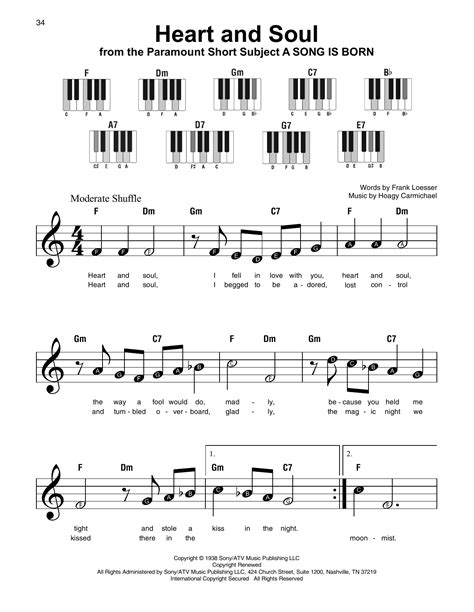 Heart and soul easy version sheets played tutorial. Heart And Soul Sheet Music | Hoagy Carmichael | Super Easy Piano