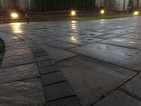 paver patio with lighting bellevue landscaper