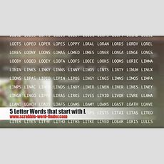 5 Letter Words That Start With L Youtube