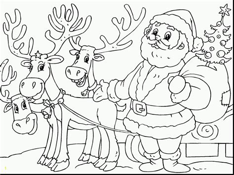 Santa Claus And Reindeer Coloring Pages Eskayalitim