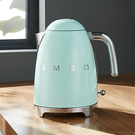 Kitchen Living Tea Kettle by Smeg Pastel Green Retro Electric Kettle Crate And Barrel
