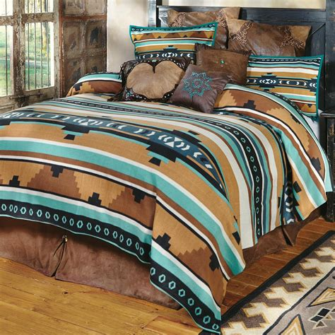 western bedding queen size desert springs turquoise