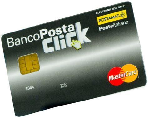 carta banco posta click postamat click e banco posta click operativit 224 e scadenze
