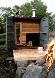 How To Build An Outdoor Wood Fired Sauna - Outdoor Designs