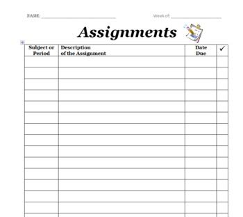Assignment Log For Students Custom Cover Letter Purchase Assignment