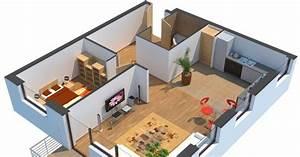 modelisation d39une maison en 3d With plan d une maison en 3d