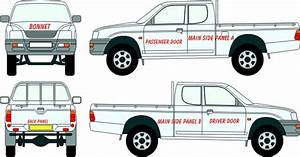 mitsubishi 97 l200 pickup vehicle wraps vehicle With truck lettering prices