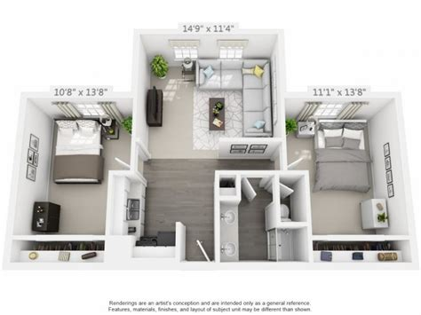 1 Bedroom Flat Map by 2 Bedroom 1 Bathroom Apartment Priced At 1221 750 Sq Ft