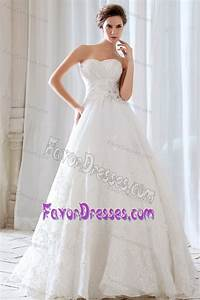 low price sweetheart lace beaded and ruched wedding With low cost wedding dresses