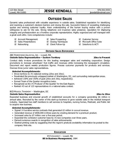free resume writing sles outside sales resume template resume builder