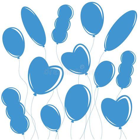 Fundo De Balões Azuis Ilustrações Vetores E Clipart De