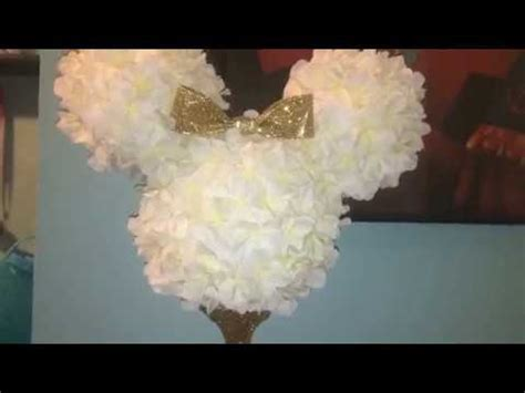 diy minnie mouse centerpiece dollar tree joanns youtube