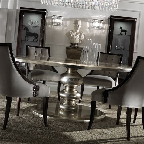 large italian chagne leaf dining table