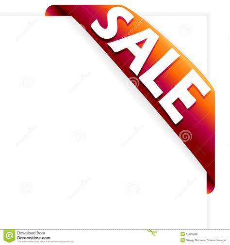 sale ribbon red royalty free stock photos image 11023808
